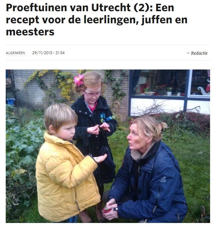 Proeftuinen van Utrecht - permacultuur-leertuin